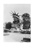 Bust of the Incomplete Statue of Liberty Photographic Print by  Science Source