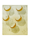 Phases of an eclipse Giclee Print by  Science Source