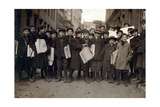 Newark Newsboys, Lewis Hine, 1909 Photographic Print by  Science Source