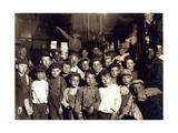 Indianapolis Newsboys, Lewis Hine, 1908 Reprodukcja zdjęcia autor Science Source