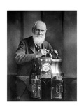 William Thomson, Lord Kelvin with His Compass Photographic Print by  Science Source