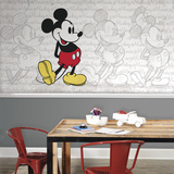 Mickey Mouse - Classic Mickey XL Chair Rail Prepasted Mural Wallpaper Mural