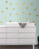 Gold Heart Peel and Stick Wall Decals Wall Decal