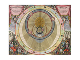 The Planisphere of Brahe, Harmonia Macrocosmica, 1660 Giclee Print by  Science Source