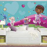 Doc Mcstuffins and Friends XL Chair Rail Prepasted Mural Wallpaper Mural