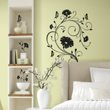 Floral Vine Peel and Stick Giant Wall Decals Wall Decal