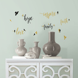 Inspirational Words with Birds Peel and Stick Wall Decals Wall Decal