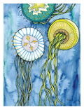 Jelly Fish Three Posters by Adrienne Vita