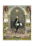George Washington, Freemason Giclee Print by  Science Source
