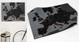 PinCountry Wall Map Diary - Europe - Black Gadgets