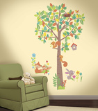Woodland Creatures Tree Peel and Stick Giant Wall Decals Wall Decal