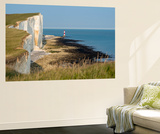 Looking Towards the Cliffs Near Beachy Head and the Lighthouse Vægplakat af Alex Treadway
