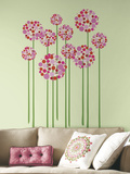 Bright Floral Dot Peel and Stick Giant Wall Decals Wall Decal