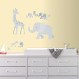 Baby Safari Animals Peel and Stick Giant Wall Decals Wall Decal