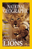 Cover of the June, 2001 Issue of National Geographic Magazine Fotografisk tryk af Mattias Klum