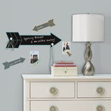 Giant Arrow Chalk w/ Hooks Peel and Stick Wall Decals Wall Decal