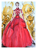 Rose Red Gown Arte di Cara Francis
