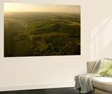 Forests and Farm Fields in Romania Vægplakat af Kenneth Garrett