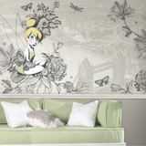 Vintage Tinkerbell XL Chair Rail Prepasted Mural Wallpaper Mural