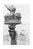 Torch of Statue of Liberty, 1885 Photographic Print by  Science Source