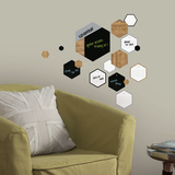 Hexagon Chalk and Dry Erase Calendar Peel and Stick Wall Decals Wall Decal