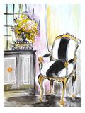 A cadeira Pôsters por Cara Francis