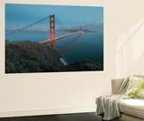 Lights on the Golden Gate Bridge at Dusk Vægplakat af Jeff Mauritzen