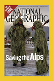 Alternate Cover of the February, 2006 National Geographic Magazine Fotografisk tryk af Melissa Farlow