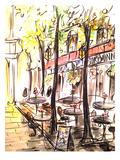 Paris Cafe Print by Cara Francis
