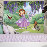 Sofia the First - Friends Garden XL Chair Rail Prepasted Mural Wallpaper Mural
