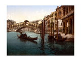 Rialto Bridge, Grand Canal, 1890s Photographic Print by  Science Source