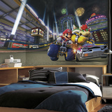 Mario Kart 8 XL Chair Rail Prepasted Mural Wallpaper Mural