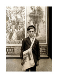 Wilmington Newsboy, Lewis Hine, 1910 Photographic Print by  Science Source