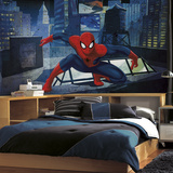 Spiderman - Ultimate Spiderman CityScape XL Chair Rail Prepasted Mural Wallpaper Mural