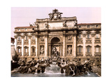 Trevi Fountain, 1890s Photographic Print by  Science Source