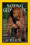 Cover of the October, 2001 National Geographic Magazine Fotografisk tryk af Kim Wolhuter