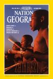Cover of the October, 1997 National Geographic Magazine Fotografisk tryk af Chris Johns