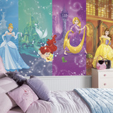 Disney Princess Scenes XL Chair Rail Prepasted Mural Wallpaper Mural