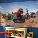 Dinotrux XL Chair Rail Prepasted Mural Wallpaper Mural