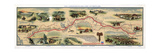 Map of Pony Express Route, 1860-1861 Lámina giclée por  Science Source