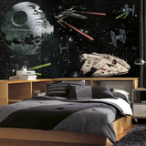 Star Wars Vehicles XL Chair Rail Prepasted Mural Wallpaper Mural