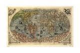 World Map, 16th Century Impression giclée par  Science Source