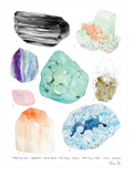 Crystal Specimen Chart Posters by Adrienne Vita