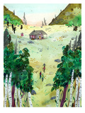 A Hike To The Cabin Prints by Adrienne Vita