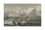Giza Pyramids and Sphinx, 1878 Giclee Print by  Science Source