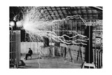 Nikola Tesla, Serbian-American Inventor Photographic Print by  Science Source