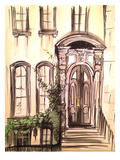 Brownstone Entryway Prints by Cara Francis