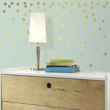 Gold Confetti Dots Peel and Stick Wall Decals Wall Decal