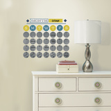 Retro Dry Erase Calendar Peel and Stick Wall Decals Vinilo decorativo