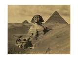 Sphinx and the Pyramids, 19th Century Fotodruck von  Science Source